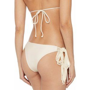 MIKOH Macramé Trimmed Low Rise Bikini Briefs Fring